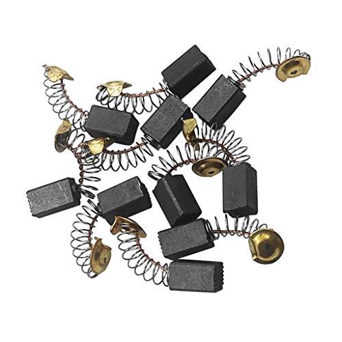 perfeclan 10 stk. Kohlebürsten Motorkohlen Kohlen Motorbürsten Schleifkohlen für Elektromotor Waschmaschine, 6.5x7.5x12.5mm