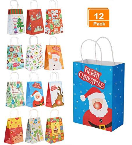 Bolsas de regalo navidad con asa rizada