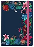 moses. 80436 Notizbuch Dark Flower, auch als Tagebuch geeignet, DIN A5, liniert, 160 Seiten