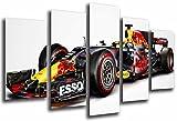 Modernes Wandbild fotografico Auto Red Bull Racing Formula 1, Ricciardo und Verstappen 2017, 165x 62cm, Ref. 26563
