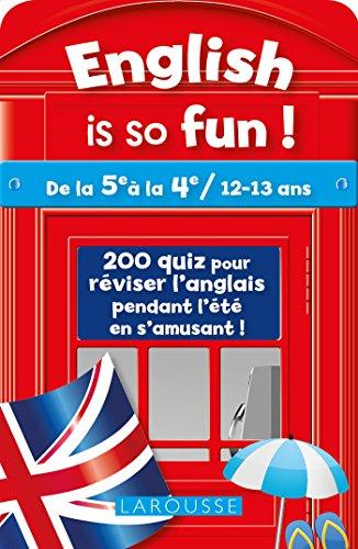 English Is So Fun (de la 5e a la 4e) - Cahier de vacances par Ch. Leclerc