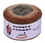 maDDma ® 200g Farbverlaufsgarn Bobbel Duhova Angora Strickgarn Strickwolle Farbwahl, Farbe:607