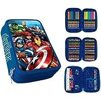 Los Vengadores Plumier 3 Cremalleras Avengers PVC Patch+Clamshell, Color 0 (AST1775)