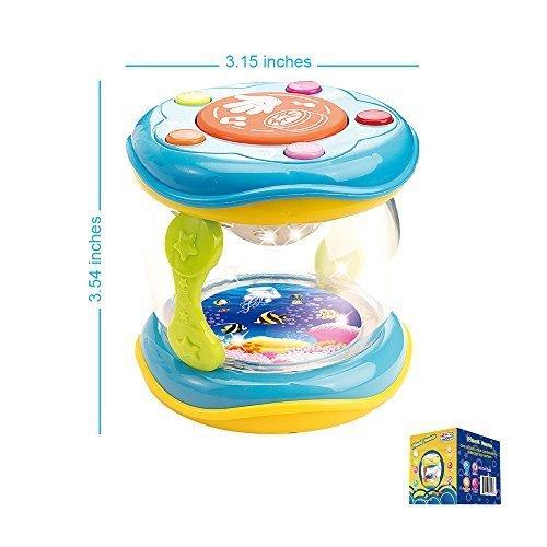 Instrumento Musical Educativo Portátil de Pequeño Tamaño para Bebés más 9 Meses. Canciones Iinfantiles Lullaby Bebe - Baby Drum