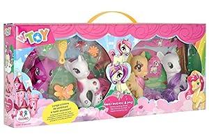 GLOBO- Playset Pony 4 Piezas W/Hair Accessories (38942), (1)
