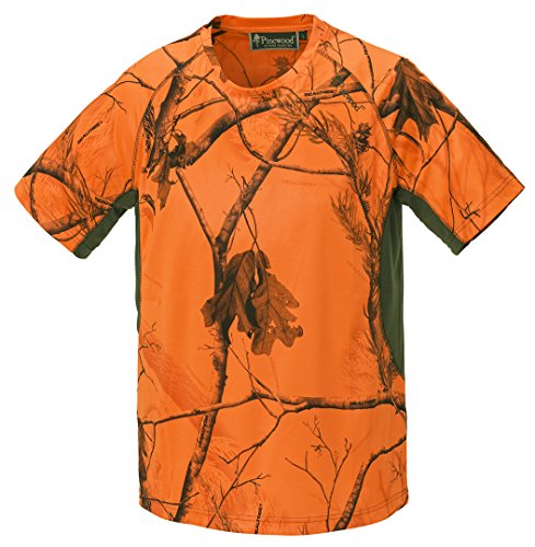 Pinewood Herren Ramsey Coolmax T-Shirt, Realtree AP Blaze HD/Grün, XL