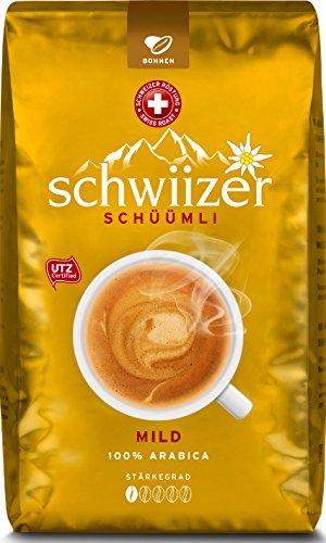 Schwiizer Mild Ganze Kaffeebohnen, 1kg