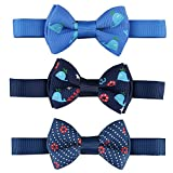 Laribbons Infant Baby Boys Neck Self Tie Bowtie Pack of 3 (P003)