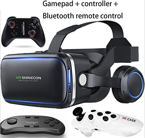 TANG VR Brille mit Controller für 3D Filme und Spiele, Brille Video Movie Game Brille 3D vr...