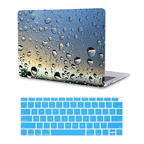 MTAOTAO Hartschale mit Tastaturschutz für MacBook Pro15 Zoll (A1707) Raindrops MacBook Air 13-inch A1932 2018