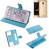 K-S-Trade Flipcover für Leagoo Z6 Schutz Hülle Schutzhülle Flip Cover Handy case Smartphone Handyhülle blau
