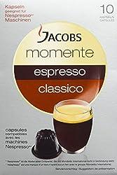 Jacobs Momente Espresso Classico, Nespresso* kompatible Kaffeekapseln, 4er Pack (4 x 10 Kapseln)
