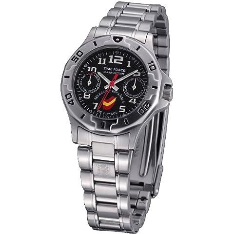 Reloj TIME FORCE SELECCIÓN ESPAÑOLA DE FUTBOL de cadete/señora. Acero Cadena Multifunción. TF-3231B01M