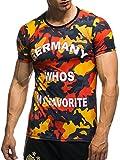 EM Fanshirt 2016 EM Fanshirts Fan T-Shirt Shirt Deutschland Frankreich Italien Portugal Spanien TŸrkei Camouflage T-Shirt; Größe XXL, Deutschland