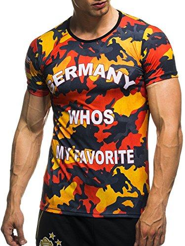 EM Fanshirt 2016 EM Fanshirts Fan T-Shirt Shirt Deutschland Frankreich Italien Portugal Spanien TŸrkei Camouflage T-Shirt; Größe L, Deutschland