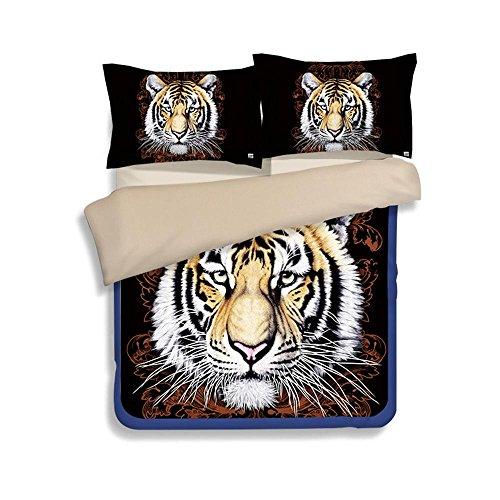 4 Stück King Quilt (SHIQUNC 3D Bettbezug Set Tier Druckeffekt Quilt Bettwäsche Set Neue königin King Size 3 stücke 1 bettbezug 2 Kissenbezüge, 4, König)