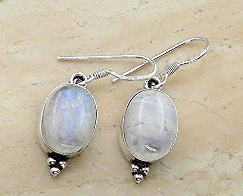 Sterling Silver Jewelry Aucun poinçon Base plaquée argent 10x14mm Oval Mondstein