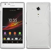 Coque en Silicone pour Sony Xperia SP - S-Style transparent - Cover PhoneNatic Cubierta + films de protection