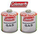 2 PEZZI - BOMBOLETTA CARTUCCIA A GAS COLEMAN C500 PERFORMANCE A FILETTO CON 440 GR DI GAS