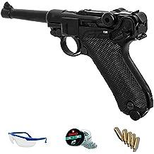 PACK réplica Luger 08 - Umarex Legends P08 full metal (pistola de aire comprimido CO2 y balines de acero) <3,5J