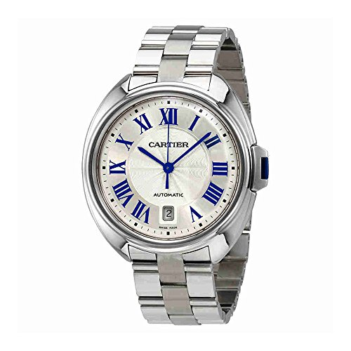 Cartier Men's Cle De Cartier 40mm Steel Bracelet Automatic Watch WSCL0007