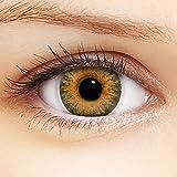 Linsenfinder Farbige Kontaktlinsen Braun '3Tones Brown' + Behälter für HELLE Augen ohne und mit Stärke braune Kontaktlinsen farbig
