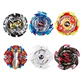 Innoo Tech 6 Pieces Bey Battle Blade Burst Gyro Top Set, 4D Fusion Model Metal Masters Acceleration Launcher, Speed Spinning Top with Base Arena, Great Kids Toy
