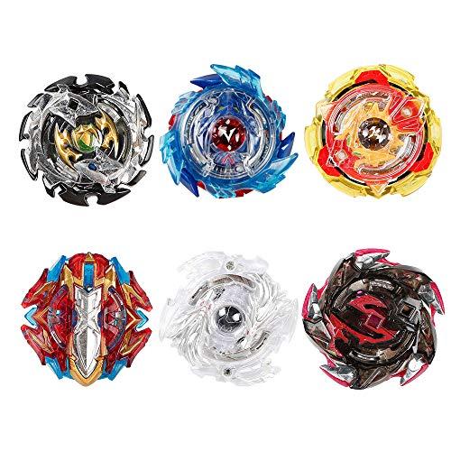 Innoo Tech 6 Stück Kampfkreisel Set, 4D Fusion Modell Metall Masters Beschleunigungslauncher, Speed Kreisel, tolles Kinder Spielzeug -
