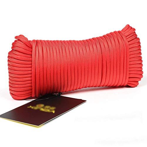 Seile Outdoor Kletterseil, 4mm Wäscheleine Outdoor hängende Wäscheleine Trocknungsdecke Winddicht Rutschfestes Sicherheitsseil, 100m / 50m / 31m (Größe: 100m)