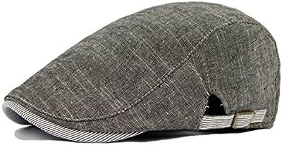 Moda Cap taxista - Cap Newsboy iParaAiluRy algodón retro Periódico Boy sombrero sombrero de la boina para los adolescentes y los hombres