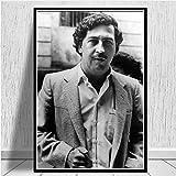 yhyxll Pablo Escobar Caract/ère L/égende R/étro Vintage Affiche Et Gravures Peinture Mur Art Toile Mur Photos pour Le Salon Home Decor E 60X90CM
