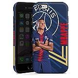 DeinDesign Coque Compatible avec Apple iPhone 6 Coque renforcée Coque Antichoc Paris Saint-Germain Produit sous Licence Officielle PSG Mbappé