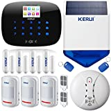 KERUI G19 Wireless Wired GSM SMS RFID Home Burglar Security Alarm System Kit with Touch Screen Keypad LCD Display Auto Dial DIY Kit Wireless Outdoor