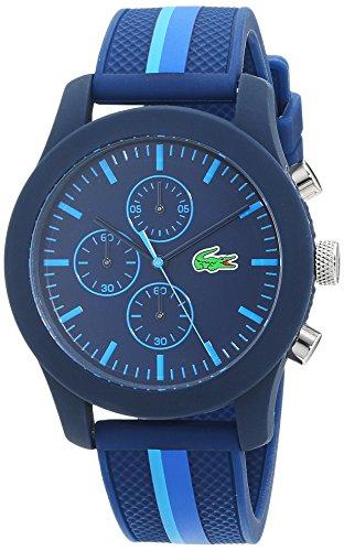 Lacoste Mens Chronograph Quartz Watch with Silicone Strap 2010931