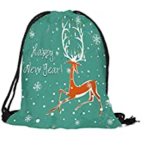 Hyiri Merry Christmas Candy Sac Sacoche Sac à Dos Bundle Pocket Sac de  Stockage Haute 4edfa655ee8