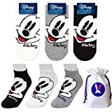 Micky Maus Charakter Knöchel Socks Mickey Mouse mit Beutel Packung mit 3 Paaren Sneakersocken