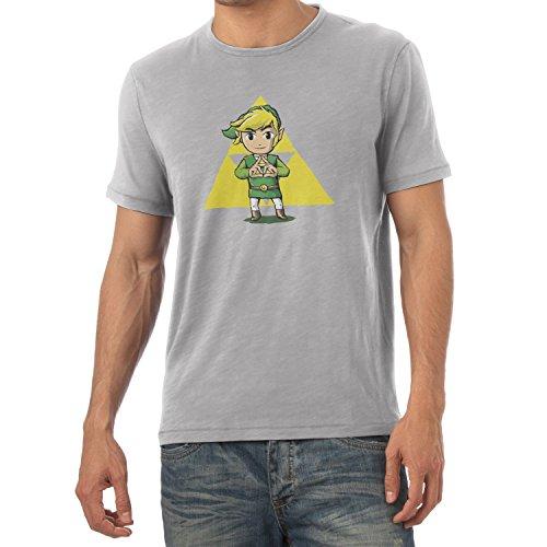 TEXLAB - Finger Triforce - Herren T-Shirt Grau Meliert