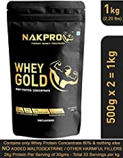 NAKPRO GOLD Whey Protein Concentrate 80% (Raw Pure Unflavor