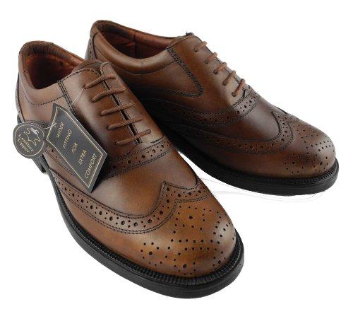 Chaussures en cuir de brogue britannique classique Homme - noir et le brun Marron