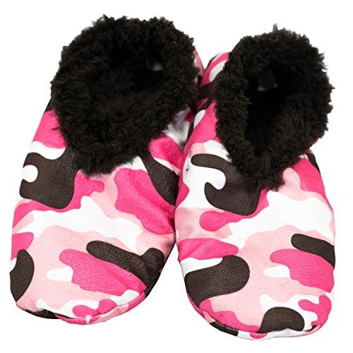 LazyOne Damen Camo Deer Fuzzy Feet Slippers Hausschuhe Erwachsenen L/XL (Camo Western-stiefel)