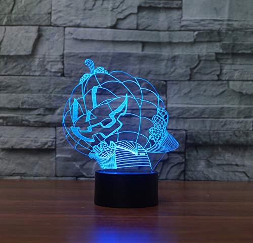 Halloween Kürbis 3D Lichter LED Vision Nachtlichter (Für Halloween Kürbis Einen Sie Bereiten)
