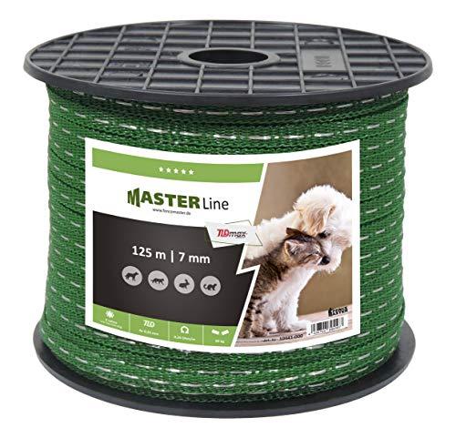 Eider Landgeräte GmbH Weidezaunband TLDmax, 7mm, 125m, mit 0,26 Ohm/m sehr leitfähig - für Hunde, Katzen, Marder, Waschbären & Kleintiere - Teichschutz