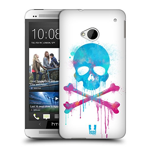 Head Case Designs Brush Skulls and Crossbones Protective Snap-on Hard Back Case Cover for HTC One