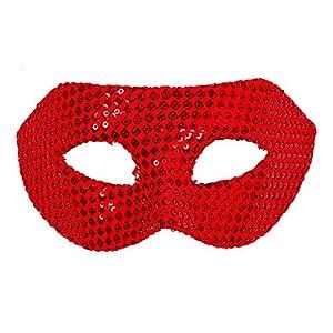Bristol Novelty EM126 - Máscara de lentejuelas para mujer, talla única, color rojo
