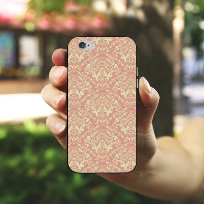 Apple iPhone 4 Housse Étui Silicone Coque Protection Vintage Rétro Collection Ornement Ornements Housse en silicone noir / blanc