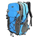 Zaino per Trekking, Evecase 40L Leggero Borsa da Viaggio per Attività all'aperto/Escursionismo/Ciclismo - Blu