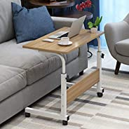 Lazy table Solid wood panel it can move Collapsible Bedside Sofa side Laptop table Study table Adjustable heig
