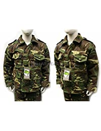Kids child's camo camouflage woodland safari army jacket coat