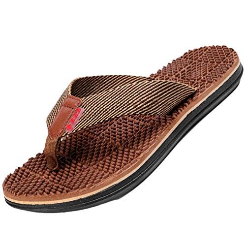 Yiiquanan infradito uomo supporto ad arco comodi sandali ortopedici per alleviare il dolore al piede (cachi, asia 43)