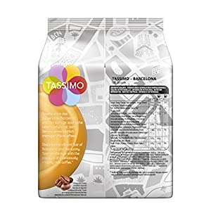 Order Tassimo BARCELONA Cafe con leche, 16 coffee capsules, pack of 5 (5 x 184 g) 180ml - Tassimo